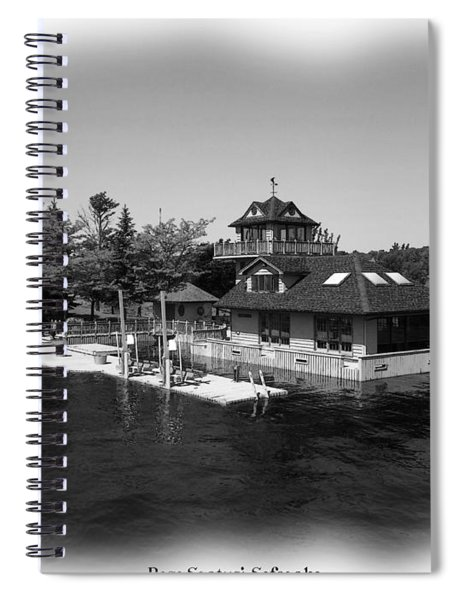 Thousand Islands In Black And White Spiral Notebook