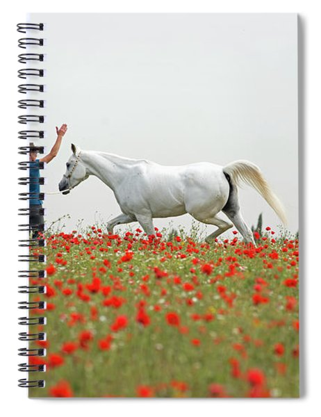 Three At The Poppies' Field Spiral Notebook