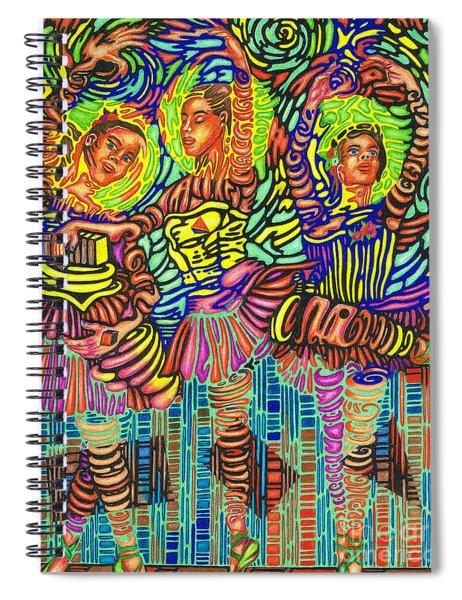 Three Ballerinas Spiral Notebook