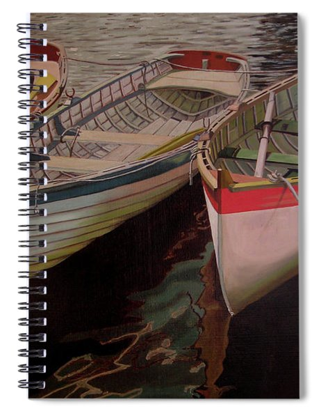 Three Boats Spiral Notebook