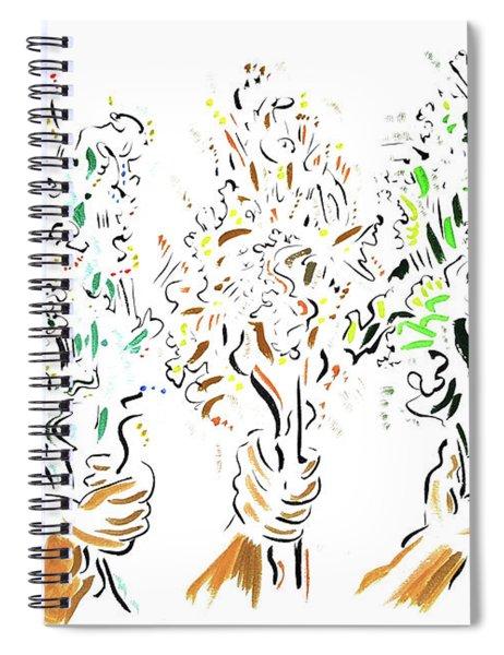 Three Bouquets Spiral Notebook