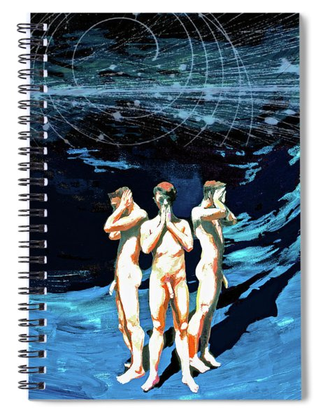 Three Boys, Hear No Evil, Speak No Evil, See No Evil Spiral Notebook