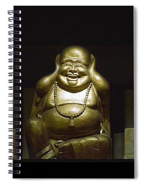 Three Buddhas Spiral Notebook