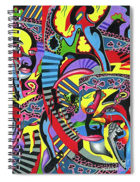 Three Disguises Of An Abstract Thought Spiral Notebook