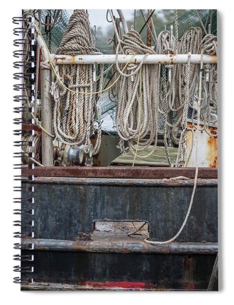 Three Fishing Ropes On Shrimp Boat  Spiral Notebook