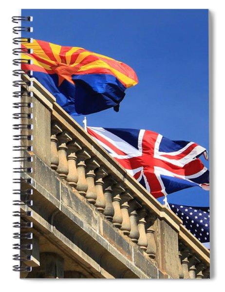 Three Flags At London Bridge Spiral Notebook