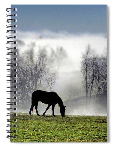 Three Horse Morning Spiral Notebook