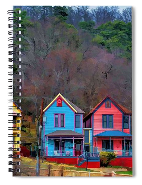 Three Houses Hot Springs Ar Spiral Notebook