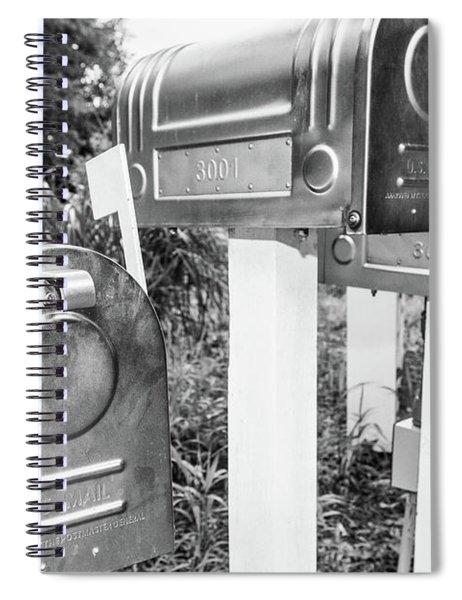 Three Mailboxes Spiral Notebook