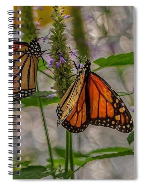 Three Monarch Butterfly Spiral Notebook