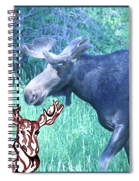 Three Moose Spiral Notebook