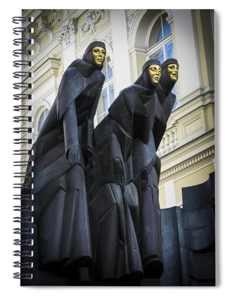 Three Muses - Calliope Thalia And Melpomene Spiral Notebook