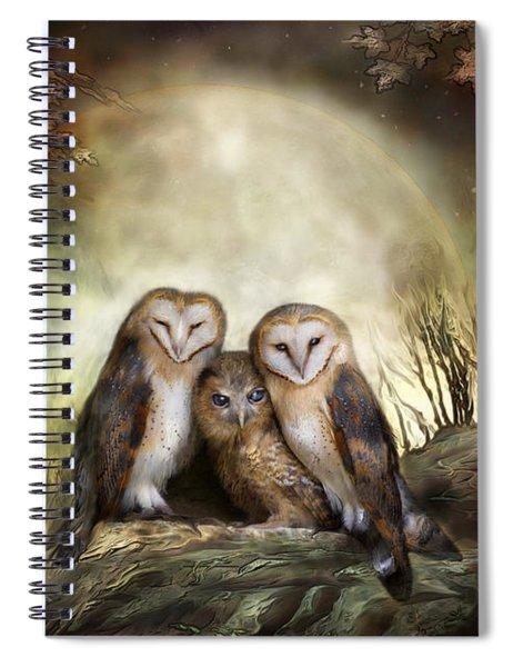 Three Owl Moon Spiral Notebook