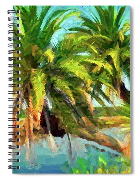 Three Palms On The Loop Spiral Notebook