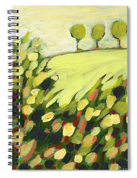 Three Trees On A Hill Spiral Notebook