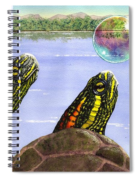 Three Turtles Three Bubbles Spiral Notebook