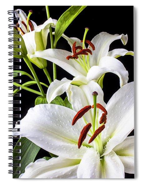 Three White Lilies Spiral Notebook