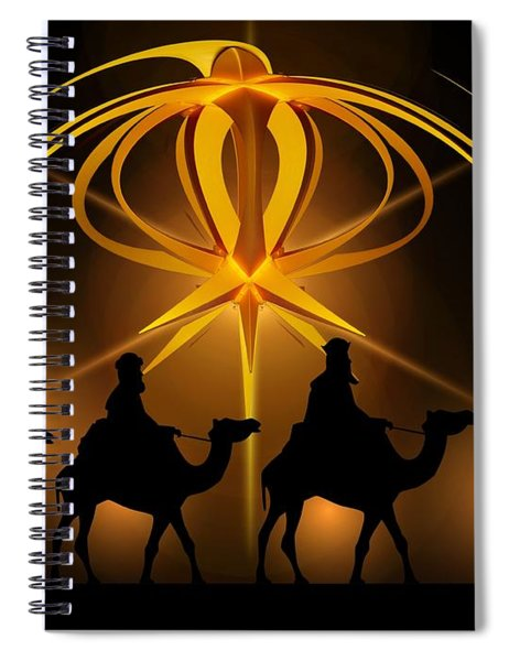 Three Wise Men Christmas Card Spiral Notebook