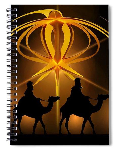 Three Wise Men Christmas Card Spiral Notebook