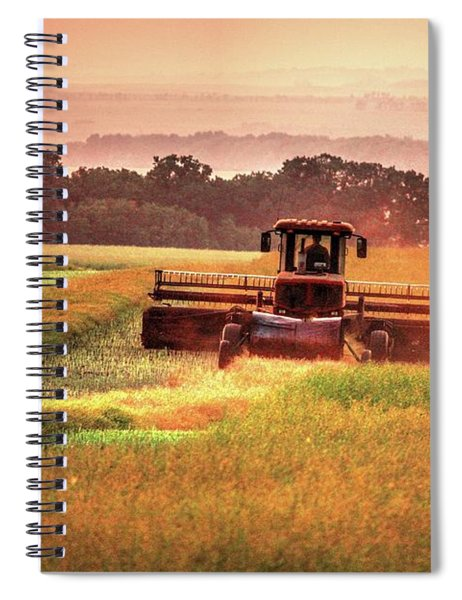 Swathing On The Hill Spiral Notebook