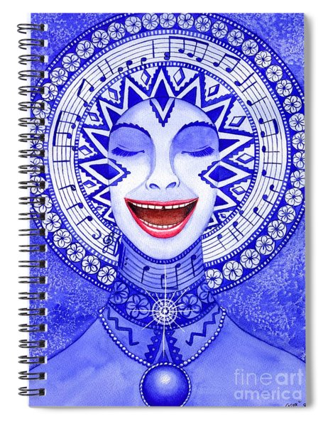 Throat Chakra Spiral Notebook