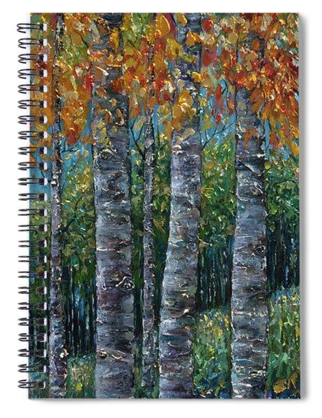 Through The Aspen Trees Diptych 2 Spiral Notebook