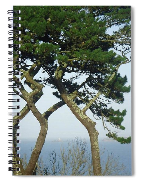 Through The Trees To Godrevy From St. Ives Spiral Notebook
