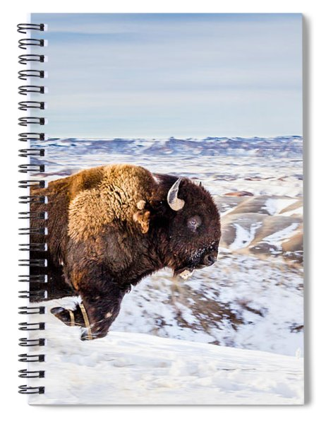 Thunder In The Snow Spiral Notebook