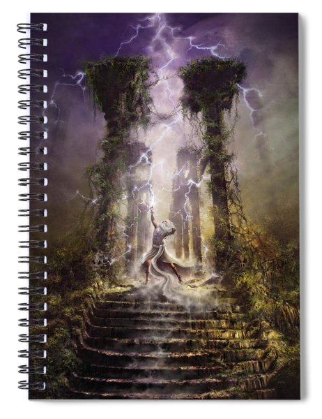 Thunderstorm Wizard Spiral Notebook