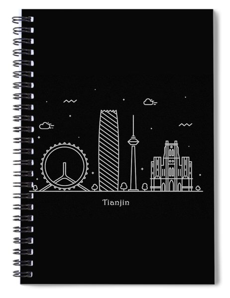 Tianjin Skyline Travel Poster Spiral Notebook