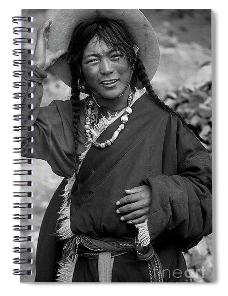 Tibetan Pilgrim At Mount Kailash Spiral Notebook