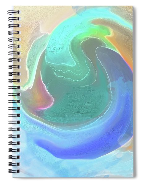 Spiral Notebook featuring the digital art Tidal Pool by Gina Harrison