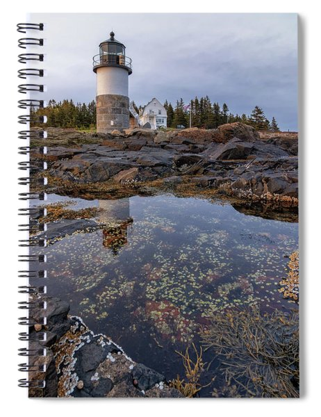 Tide Pools At Marshall Point Lighthouse Spiral Notebook