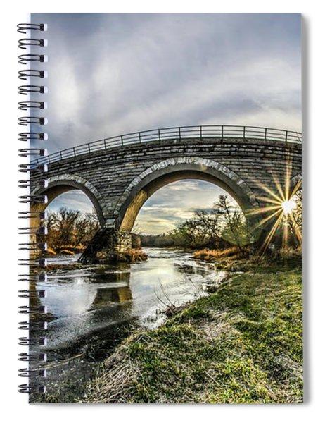 Tiffany Bridge Panorama Spiral Notebook