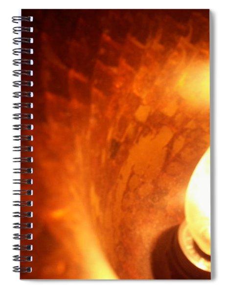 Tiffany Lamp Inside Spiral Notebook