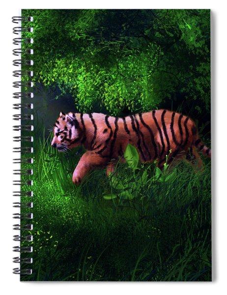 Tiger Cub In Forest Spiral Notebook