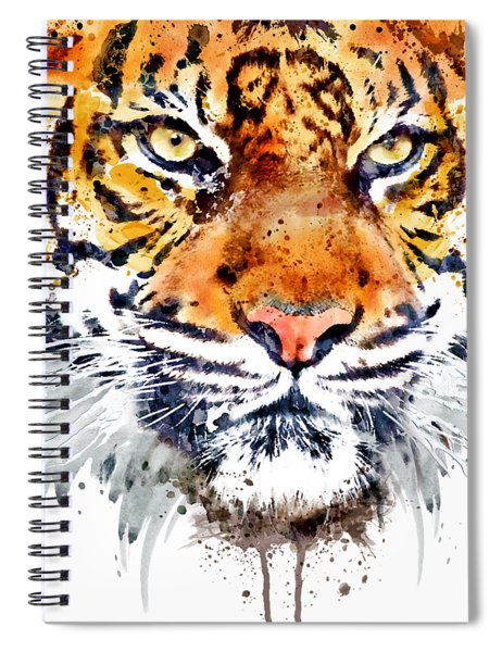 Tiger Face Close-up Spiral Notebook