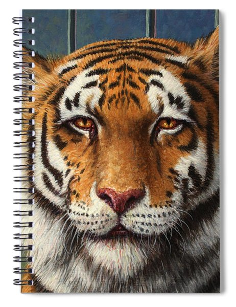 Tiger In Trouble Spiral Notebook
