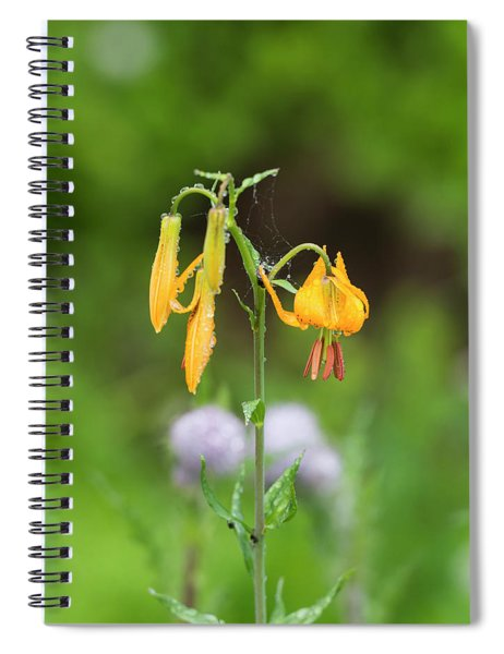 Tiger Lily In Olympic National Park Spiral Notebook