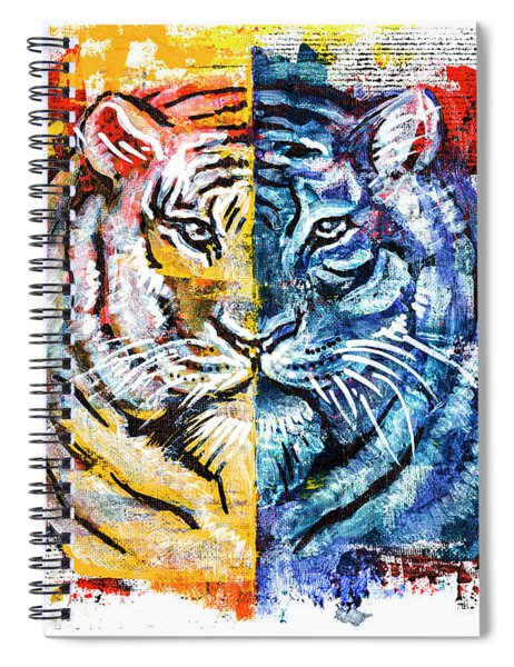 Tiger, Original Acrylic Painting Spiral Notebook