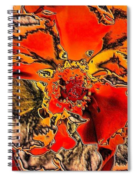 Tiger Rose Neon Spiral Notebook