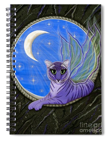 Tigerpixie Purple Tiger Fairy Spiral Notebook