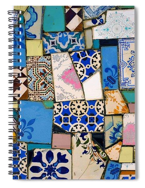 Tiles Fragments Spiral Notebook