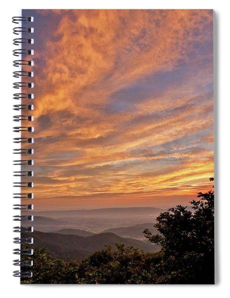 Timber Hollow Overlook Sunset 1 Spiral Notebook