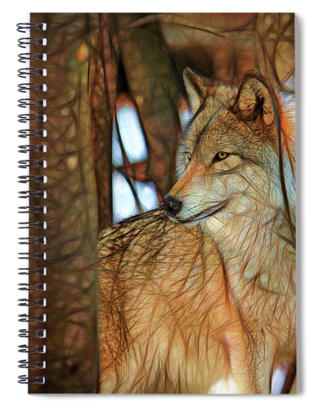 Timber Wolf Colorful Art Spiral Notebook