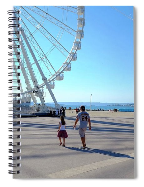 Time For The Ferris Wheel Spiral Notebook