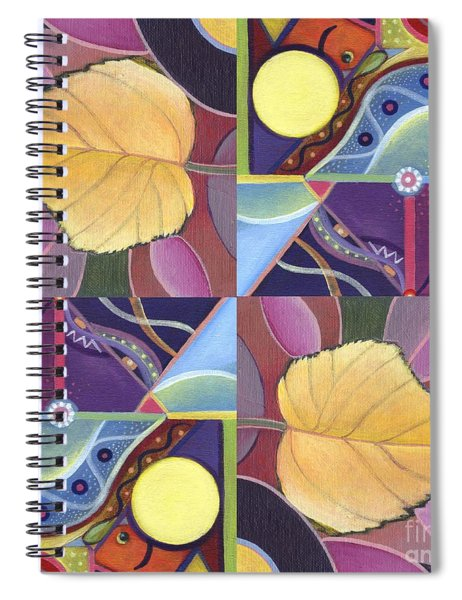 Time Goes By - The Joy Of Design Series Arrangement Spiral Notebook
