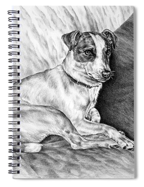 Time Out - Jack Russell Dog Print Spiral Notebook