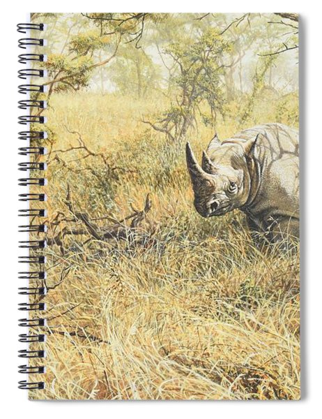 Spiral Notebook featuring the painting Time To Move On by Alan M Hunt