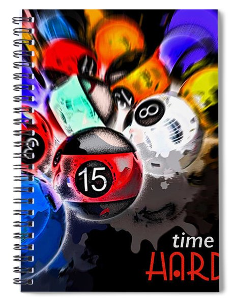Time To Play Hard Ball Black Spiral Notebook